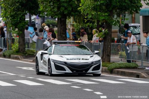 鈴鹿サーキットのマーシャルカーNSX!ナンバー無し車両が行動を激走!